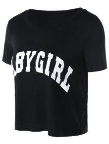 M Camiseta Baby Girl Negro Corta wZ6aZH