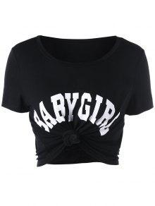Camiseta Recortada Niña - Negro S