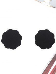 لاصق الزهور شكل المعجنات - أسود