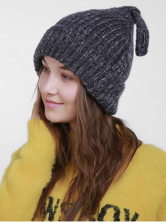 Sombrero de punto con cola de Navidad - Gris Oscuro