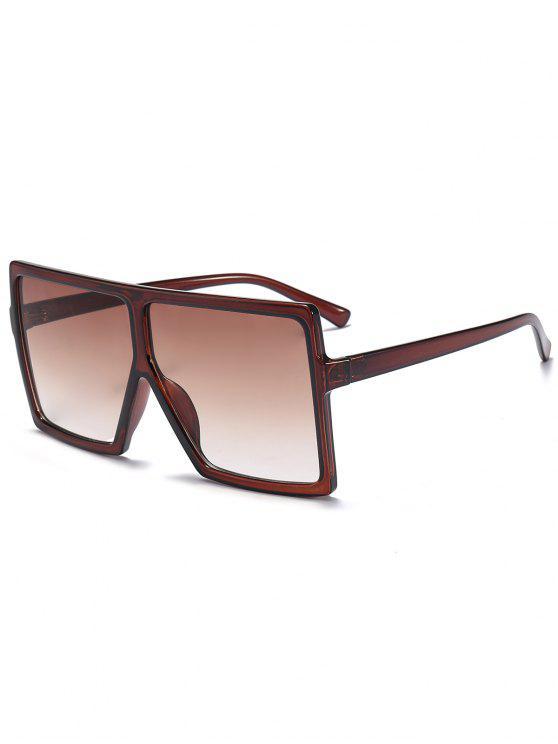 Óculos de sol de tamanho completo quadrado - Cor de chá