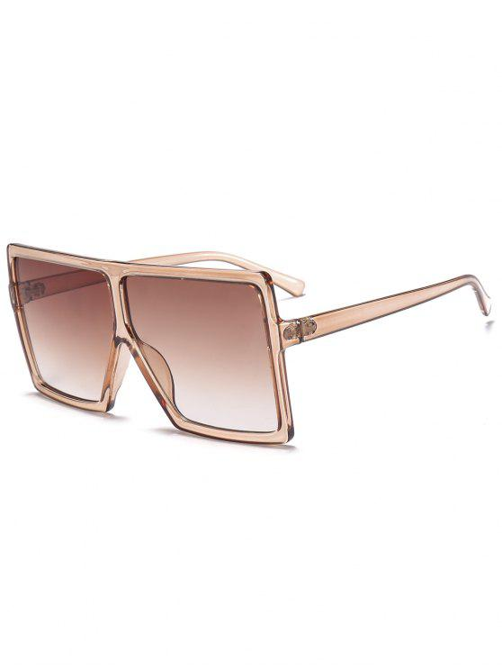 lady Full Frame Square Oversized Sunglasses - BROWN