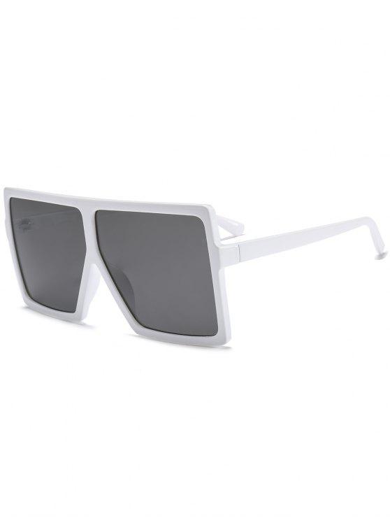 Occhiali da sole oversize quadrato pieno quadrato - Bianco