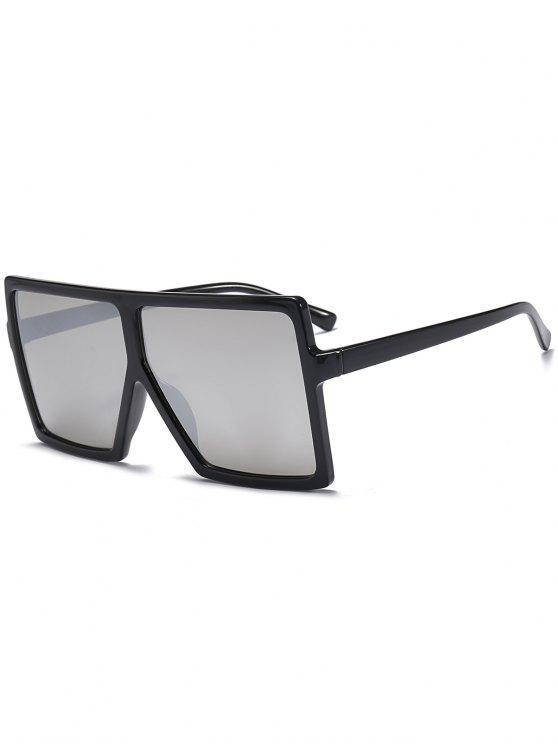 الإطار الكامل مربع النظارات الشمسية المتضخم - أسود + عطارد