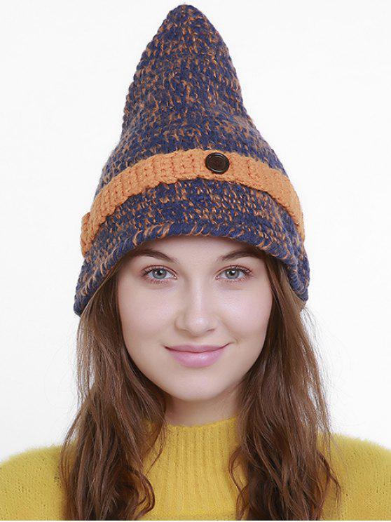 Cappello In Maglia Da Stregone Per Halloween - Blu Arancio - Uomo