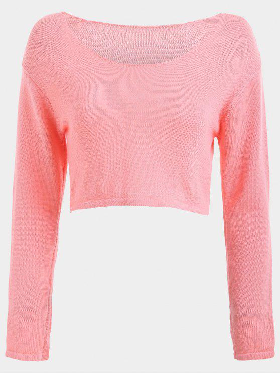 Casual Pullover Cropped Sweater PINK: Sweaters ONE SIZE | ZAFUL