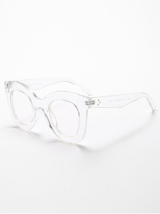 fancy Chunky Full Frame Plastic Sunglasses - TRANSPARENT