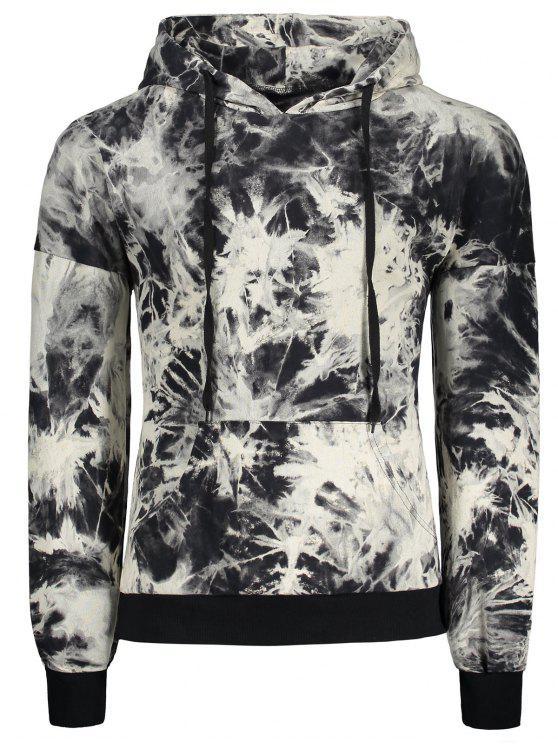 99c90be1fd2 2019 Hooded Drop Shoulder Tie Dye Pullover Hoodie In COLORMIX XL