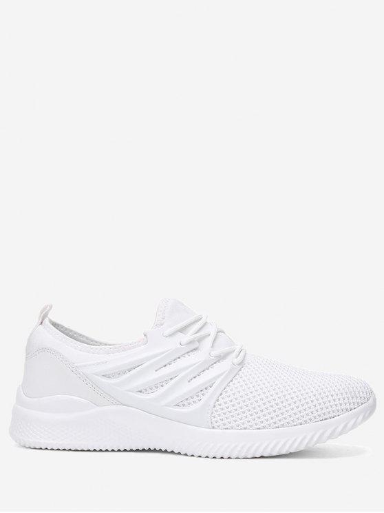 women's Breathable Low Top Athletic Shoes - WHITE 40