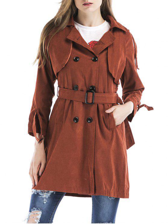 Manteau à tricot doublé - Brique rouge M
