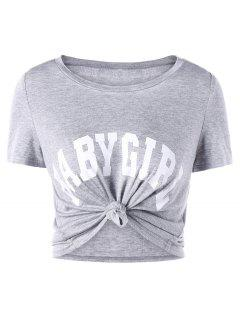 Baby Girl Cropped Tee - Gray 2xl