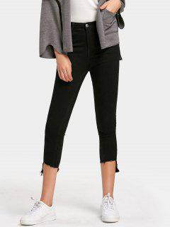 Ninth Asymmetrical Hem Pencil Jeans - Black M