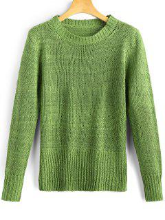 Long Sleeve Heathered Pullover Sweater - Green
