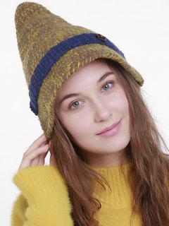 Halloween Pointy Wizard Kniting Hat - Saffron Yellow