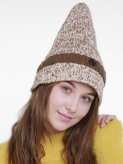 Halloween Pointy Wizard Kniting Hat - Off-white