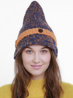 Halloween Pointy Wizard Kniting Hat - Blue Orange - Man