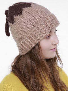 Lotus Leaf Shape Christmas Knit Hat - Khaki
