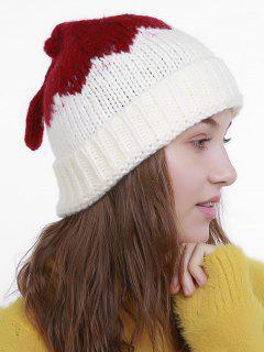 Lotus Leaf Shape Christmas Knit Hat - White