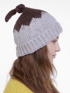Lotus Leaf Shape Christmas Knit Hat - Gray