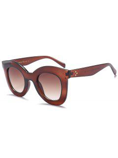 Chunky Full Frame Plastic Sunglasses - Tea-colored