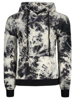 Hooded Drop Shoulder Tie Dye Pullover Hoodie - Xl