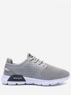 Mesh Breathable Letter Sneakers - Gray 40
