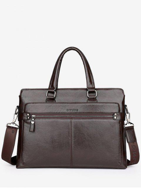 PU-lederne Spitzenhandgriff Handtasche - Braun  Mobile