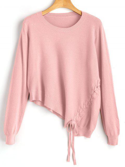 Tricot Asymétrique à Lacets - Rose  Taille Unique Mobile