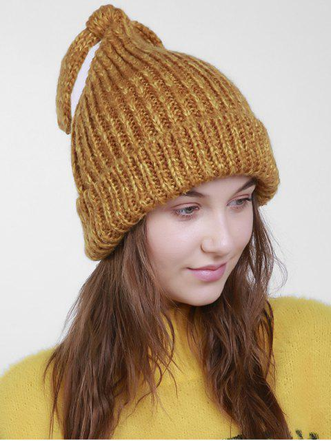 unique Christmas Flanging Knit Hat with Tail - ORANGE BROWN  Mobile