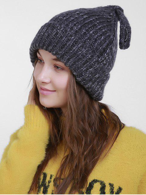 Chapeau en tricot de Noël avec queue - gris foncé  Mobile