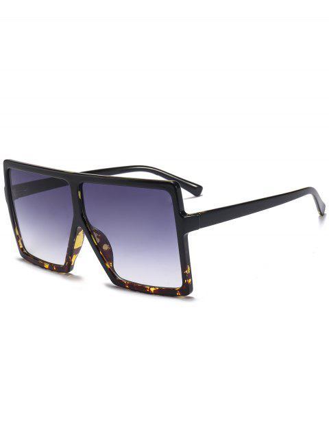 Full Frame Square übergroße Sonnenbrille - Schwarz+Leopard c2  Mobile