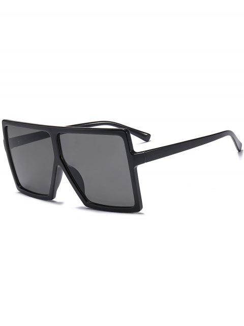 hot Full Frame Square Oversized Sunglasses - BRIGHT BLACK+GREY  Mobile