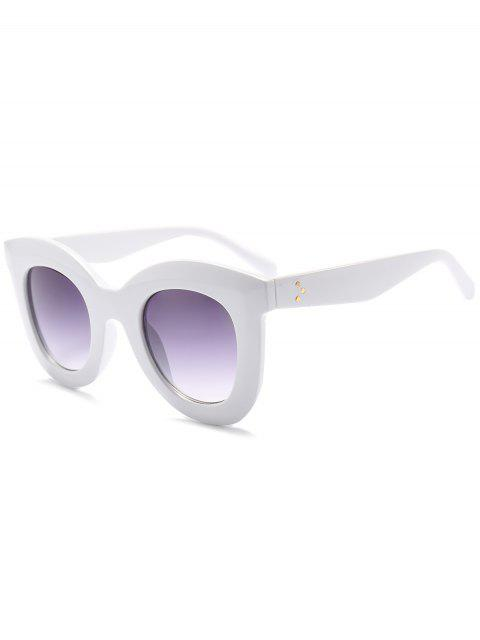 Chunky Full Frame Kunststoff Sonnenbrillen - Weiß  Mobile