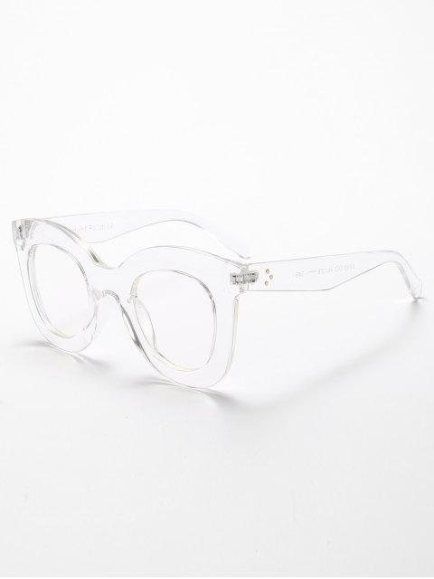 fancy Chunky Full Frame Plastic Sunglasses - TRANSPARENT  Mobile