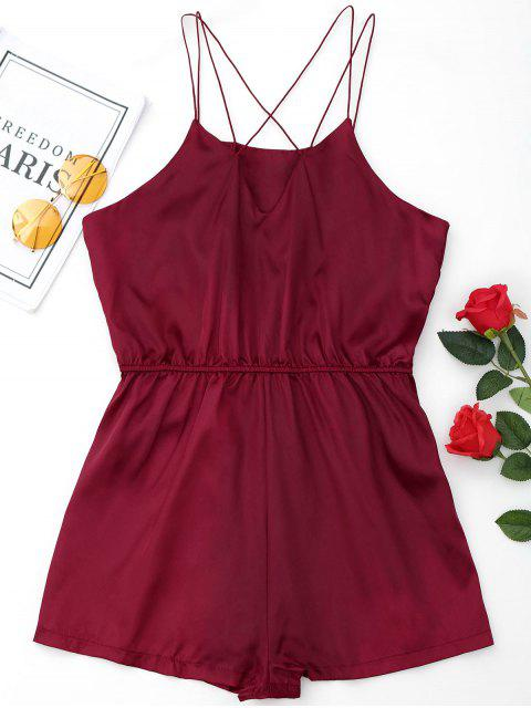 outfit Satin Sleepwear Ropmer - WINE RED L Mobile