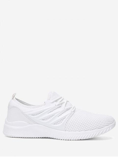 women's Breathable Low Top Athletic Shoes - WHITE 40 Mobile