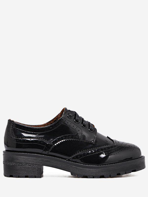 Wingtip Contrast Color Brogues Flat Shoes 228463704