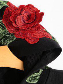 Flores Ca Sudadera Con De Con Capucha Hombros qwx6t8w