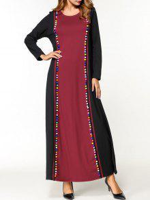 الفستان بوم بوم اثنين لهجة ماكسي اللباس - أسود M