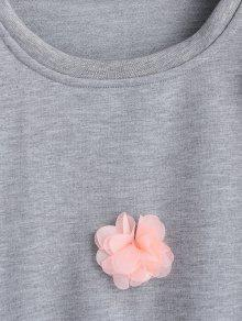 Sudadera Applique L Floral Pullover Gris yYgWqwPFxa