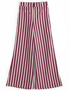 Stripes High Waisted Wide Leg Pants - Listras S