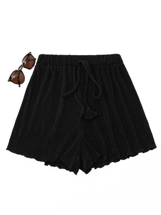 Shorts de capa plissada - Preto Tamanho único