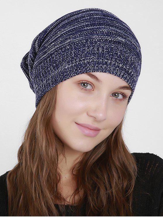 Mixcolor Knit Beanie Hut - Dunkel Blau
