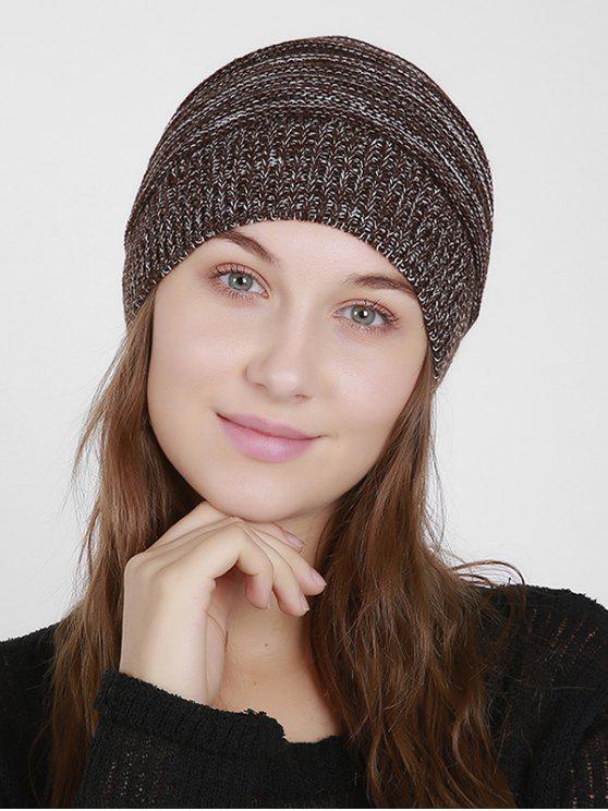 Cappello Beanie del Knit Mixcolor - Caffè