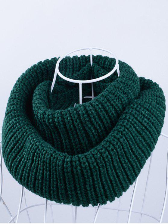 outfits Outdoor Chunky Infinity Knitted Scarf - BLACKISH GREEN