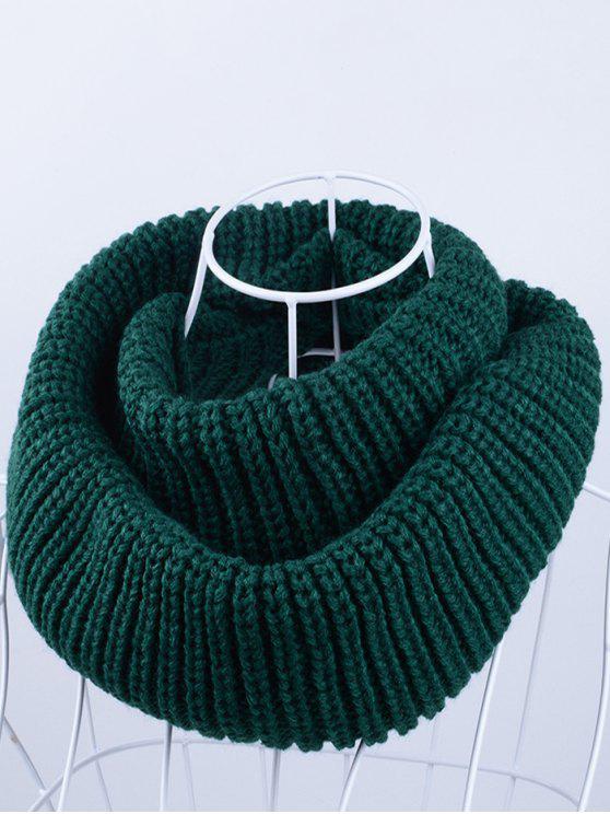 Bufanda tricotada al aire libre de Chunky Infinity - Verde negruzco