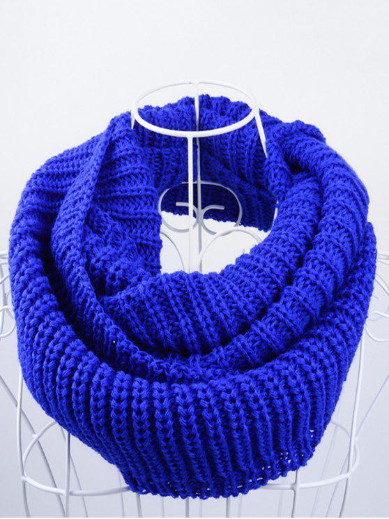 Echarpe de malha de algodão infinito infinito - Real