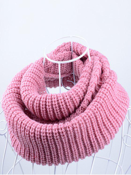 women Outdoor Chunky Infinity Knitted Scarf - PAPAYA