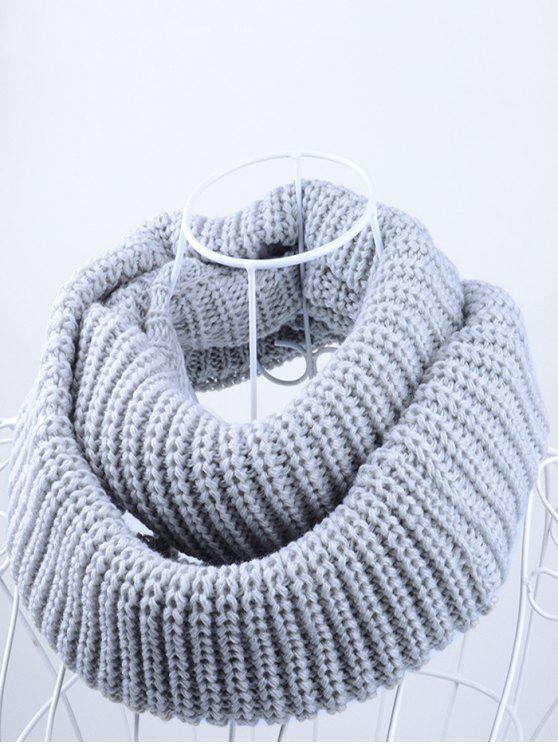 outfit Outdoor Chunky Infinity Knitted Scarf - GRAY
