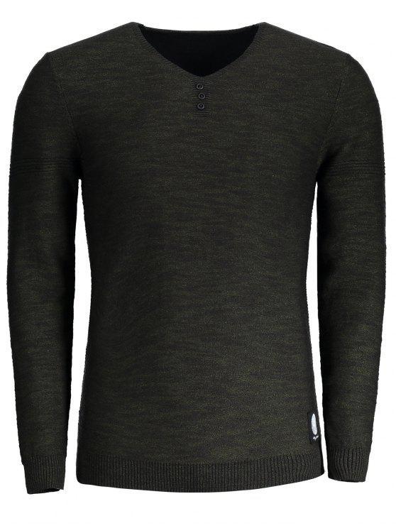 Suéter con cuello en V - Ejercito Verde 2XL